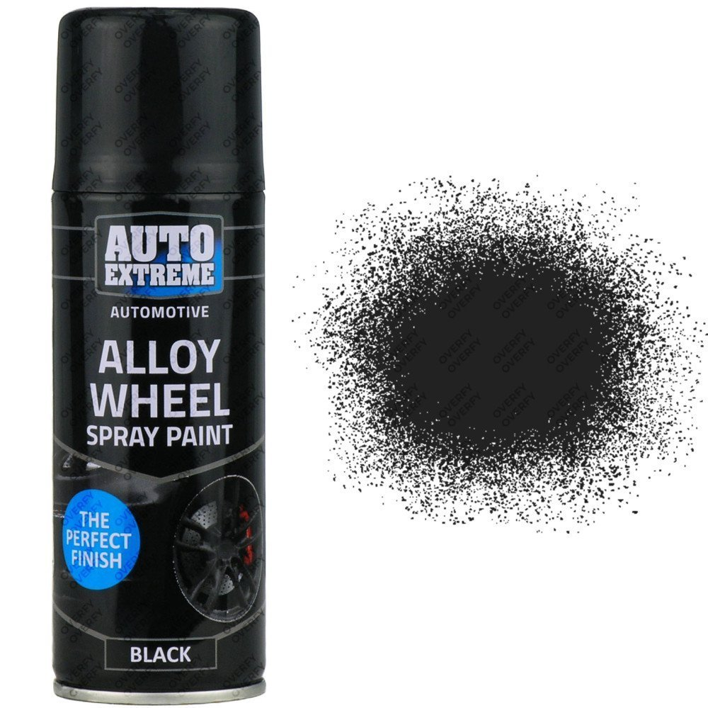 black satin alloy wheel spray 200ml restorer sprayster. Black Bedroom Furniture Sets. Home Design Ideas