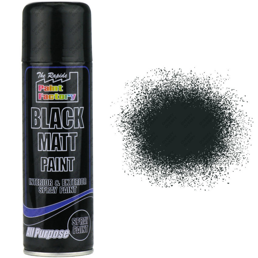 Black Matt Spray Paint 250ml All Purpose Sprayster
