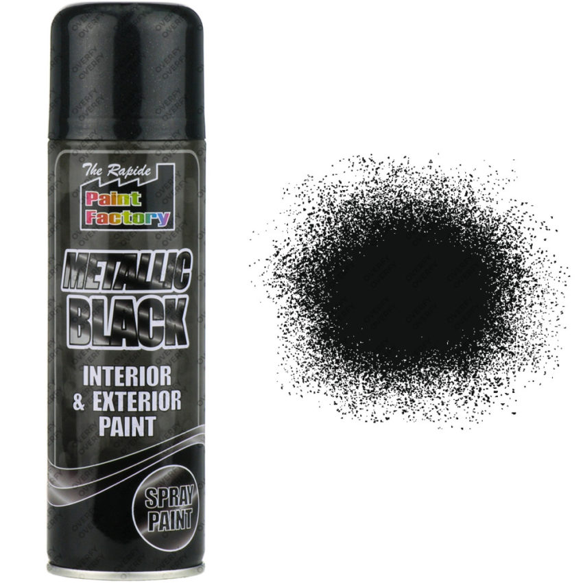250ml metallic black sprayster for Happy color spray paint price